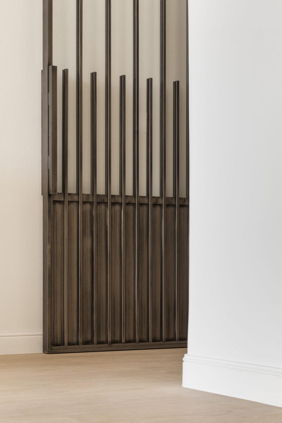 Stalen deur ontwerp interieurarchitecte Marie Lecluyse